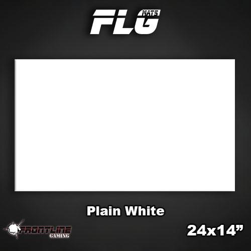 """Frontline-Gaming FLG Mats: Plain White 24"""" x 14"""""""