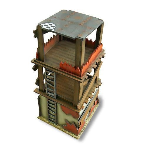 Frontline-Gaming ITC Terrain Series: Orc Swamp Village Complete Set With Mat