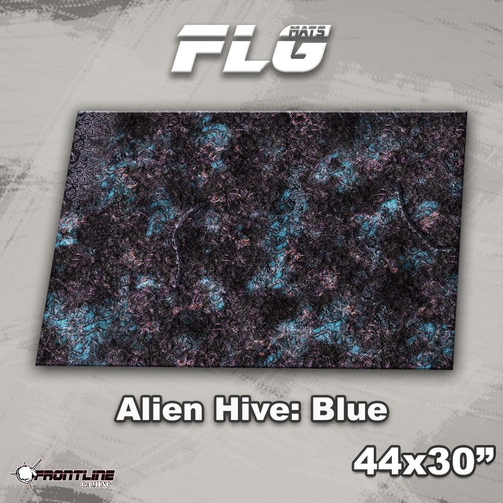 "Frontline-Gaming FLG Mats: Alien Hive 1: Blue 44"" x 30"""