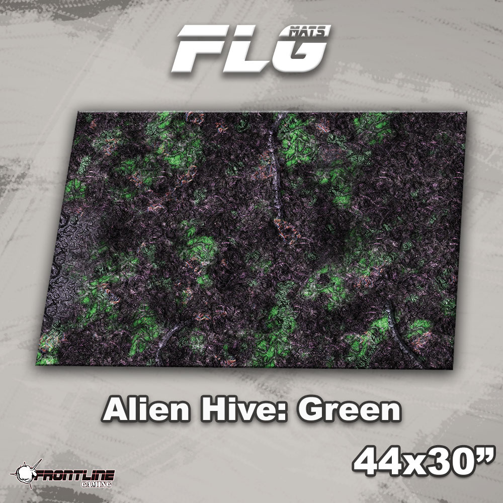 "Frontline-Gaming FLG Mats: Alien Hive 1: Green 44"" x 30"""