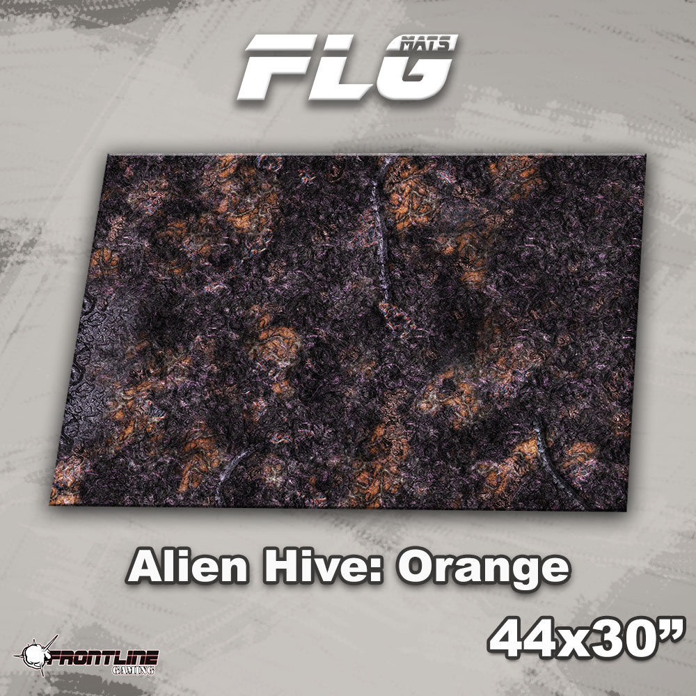 "Frontline-Gaming FLG Mats: Alien Hive 1: Orange 44"" x 30"""