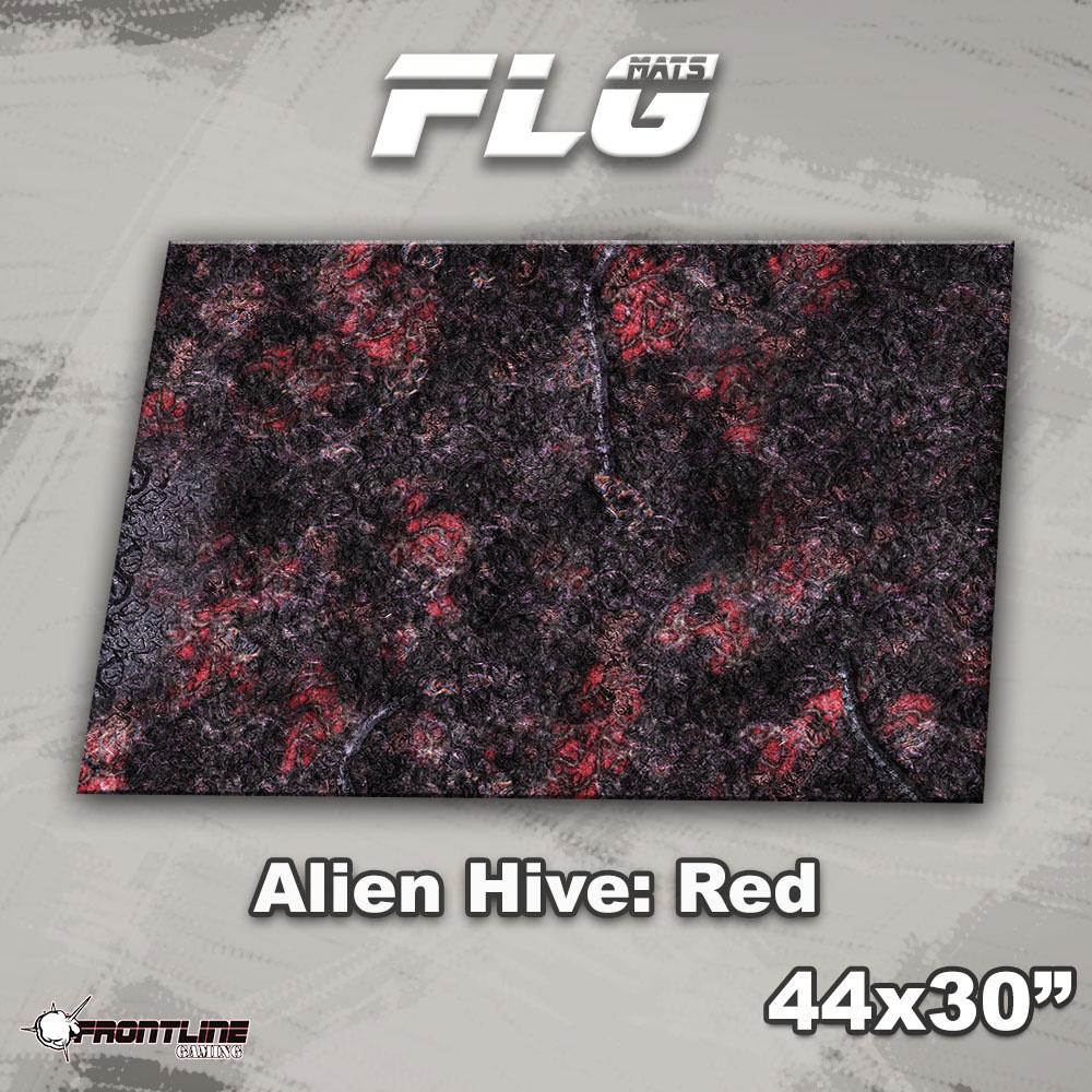"Frontline-Gaming FLG Mats: Alien Hive 1: Red 44"" x 30"""