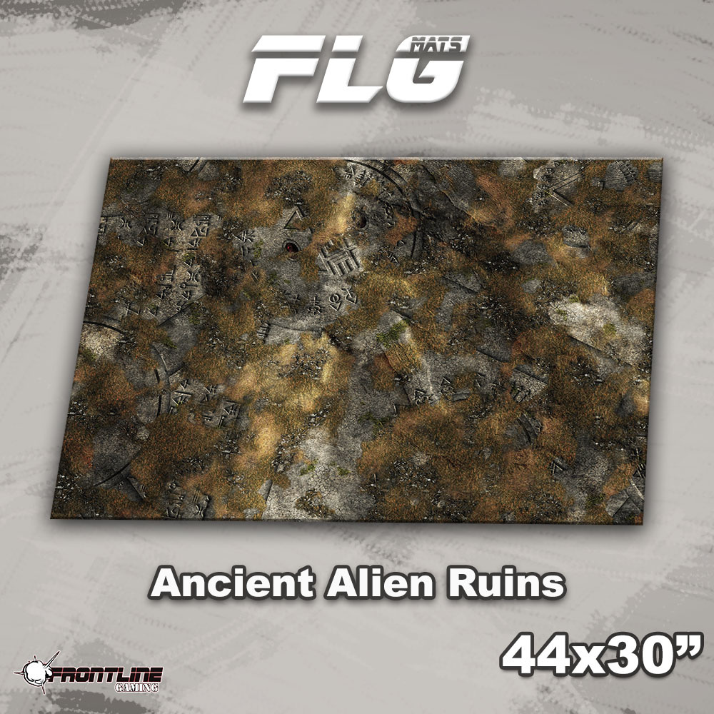 "Frontline-Gaming FLG Mats: Ancient Alien Ruins 44"" x 30"""