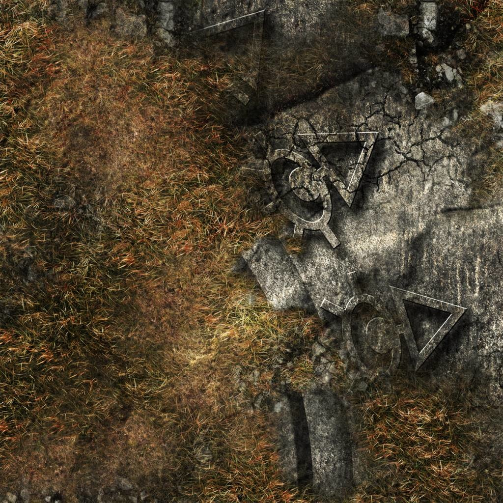 "Frontline-Gaming FLG Mats: Ancient Alien Ruins 44"" x 30"""
