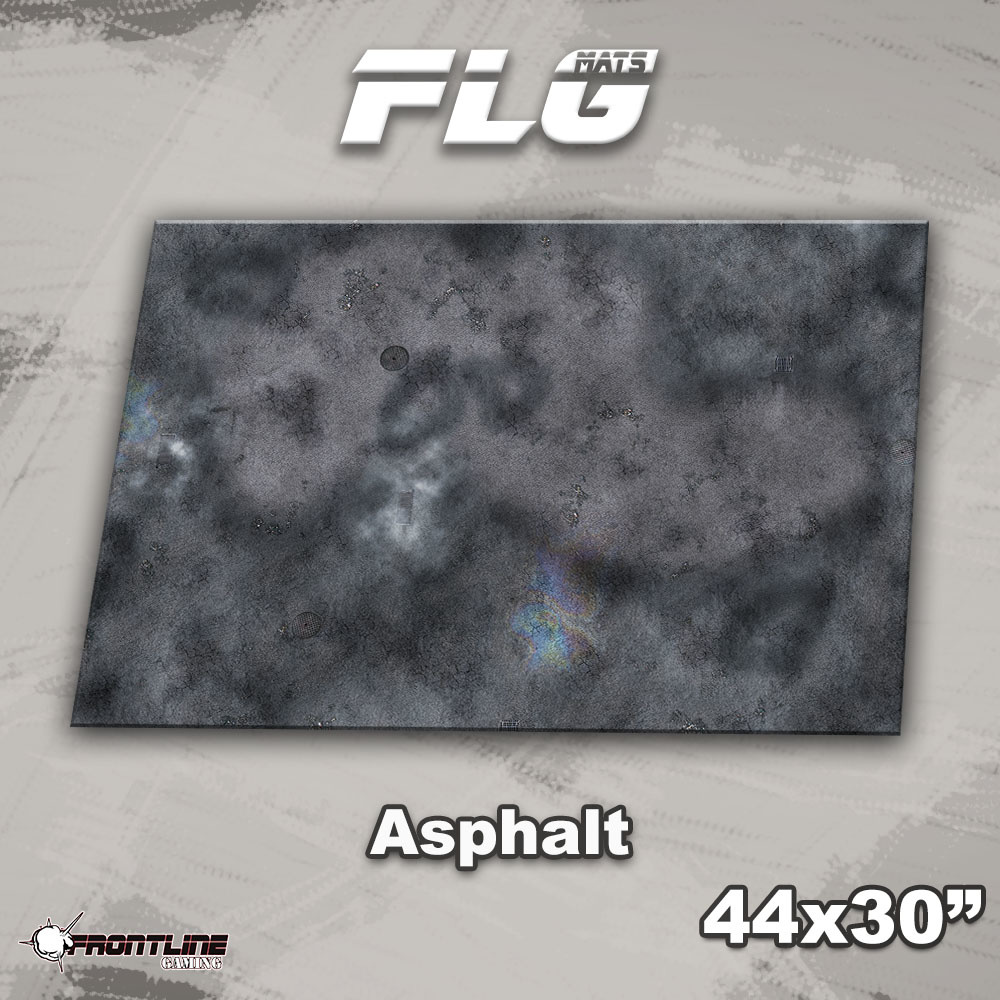 "Frontline-Gaming FLG Mats: Asphalt 44"" x 30"""
