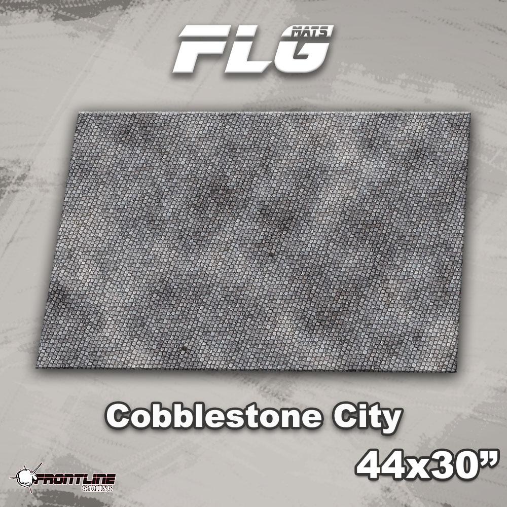 "Frontline-Gaming FLG Mats: Civic Cobblestone 44"" x 30"""