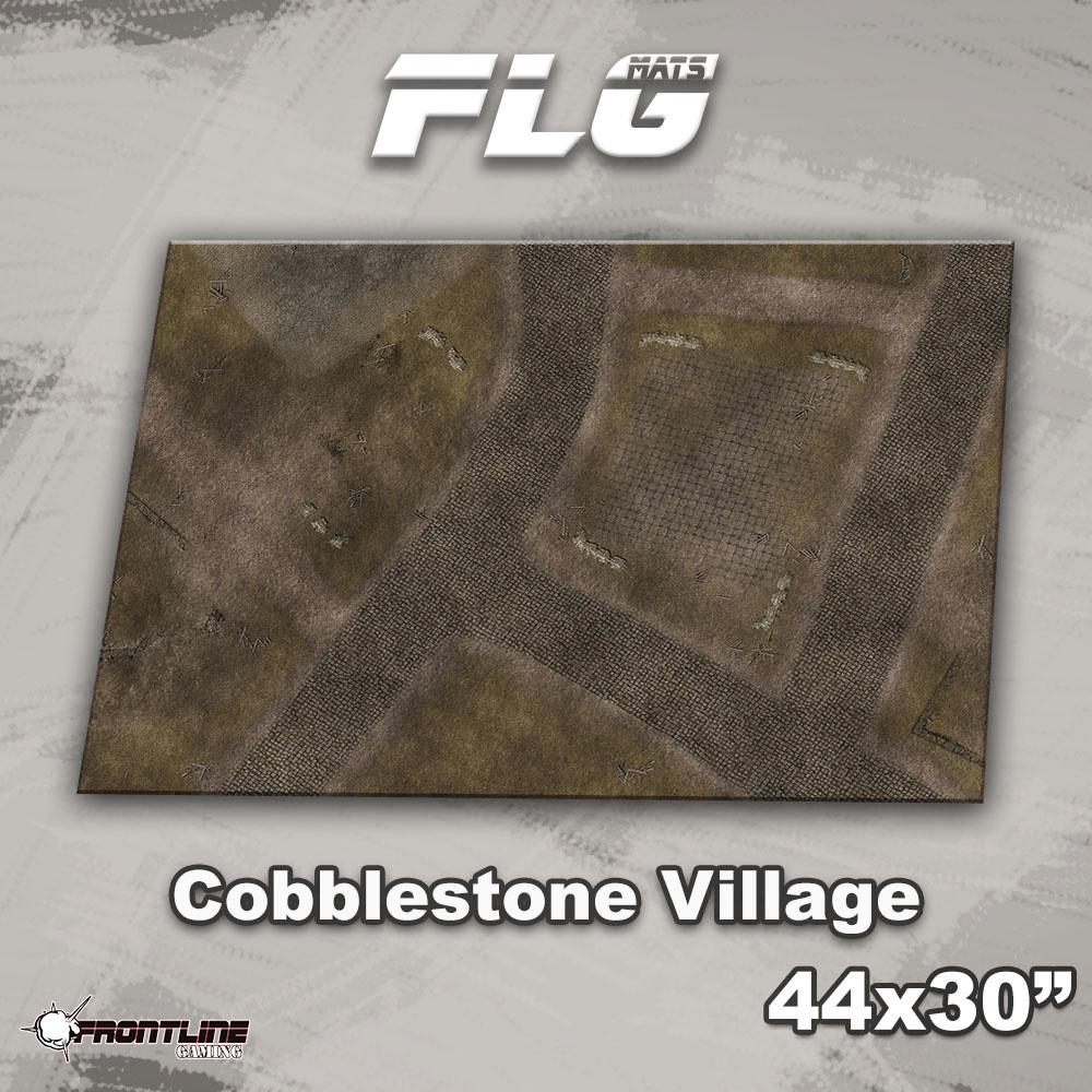 "Frontline-Gaming FLG Mats: Cobblestone Village 44"" x 30"""