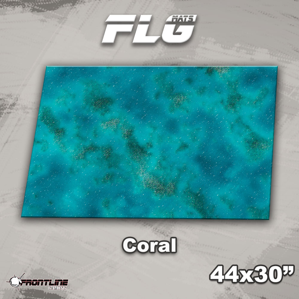 """Frontline-Gaming FLG Mats: Coral Reef 44"""" x 30"""""""