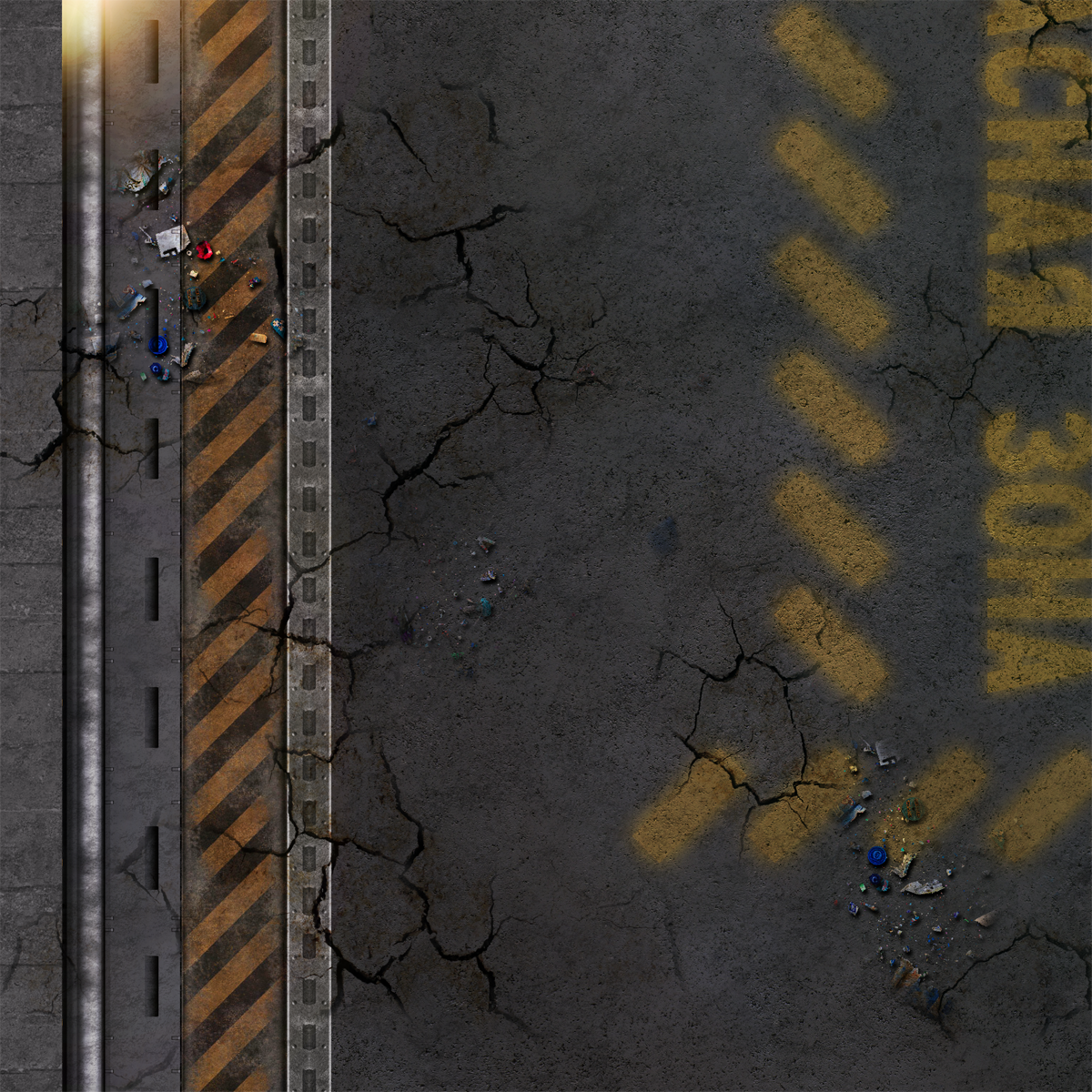 "Frontline-Gaming FLG Mats: Cyberpunk City 1 44"" x 30"""