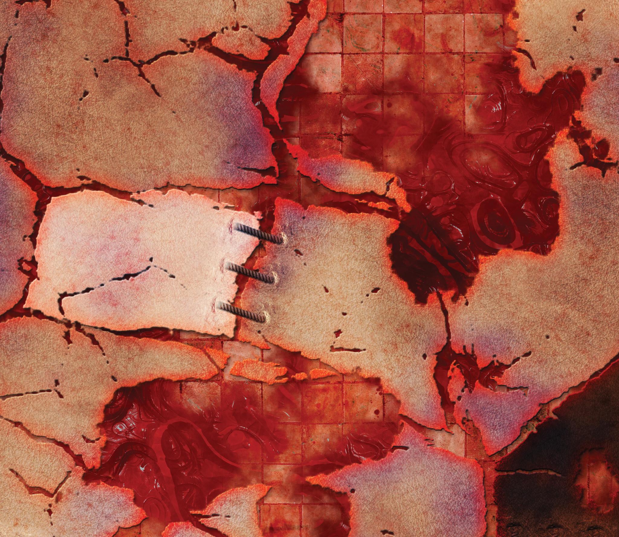 "Frontline-Gaming FLG Mats: Horrorscape 44"" x 30"""
