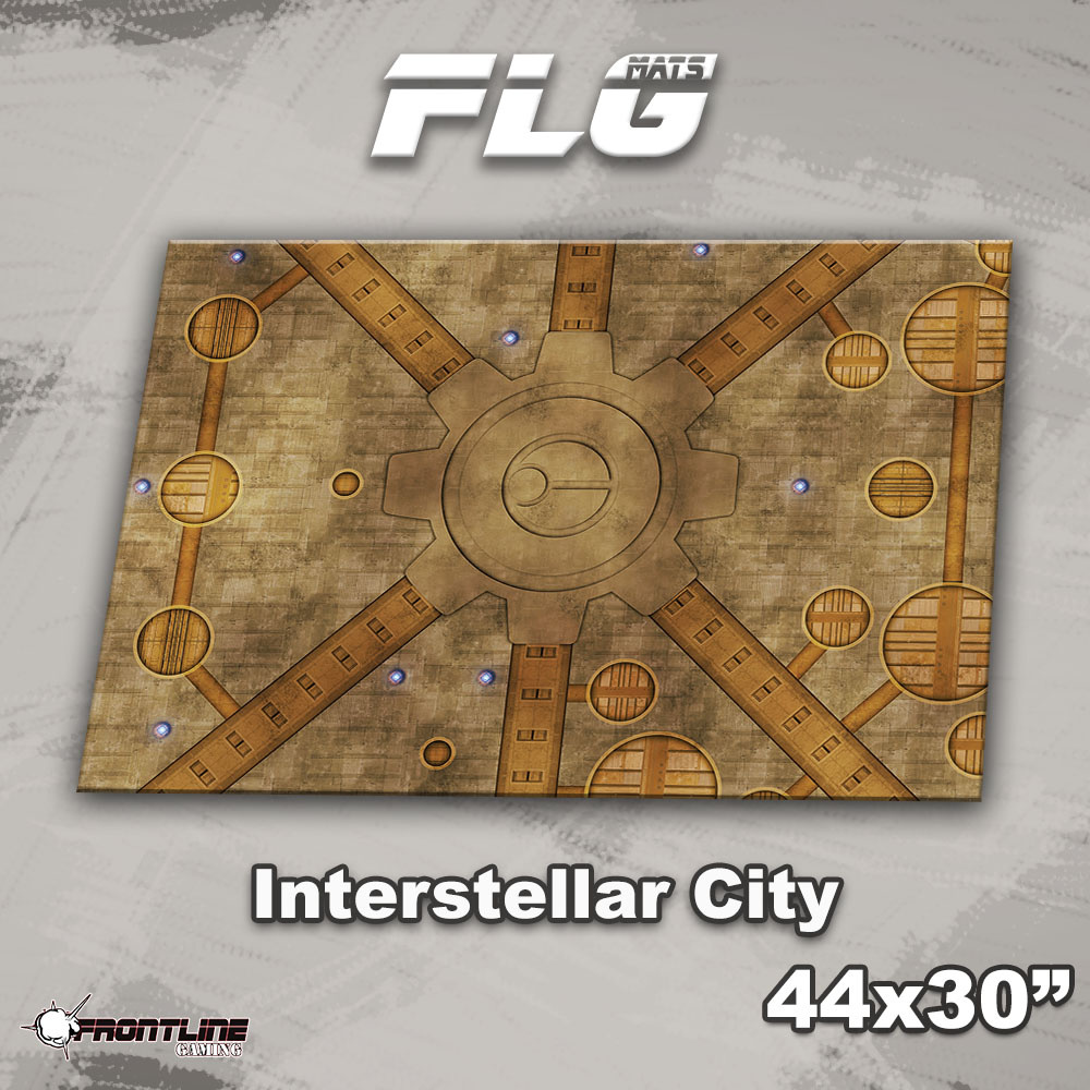 "Frontline-Gaming FLG Mats: Interstellar City 44"" x 30"""