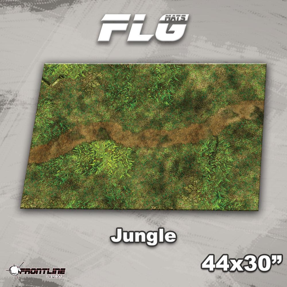 "Frontline-Gaming FLG Mats: Jungle 44"" x 30"""