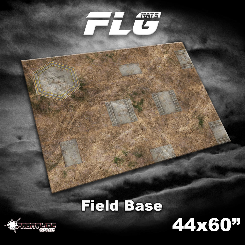 Frontline-Gaming ITC Terrain Series: Field Base Complete Set W/ Mat