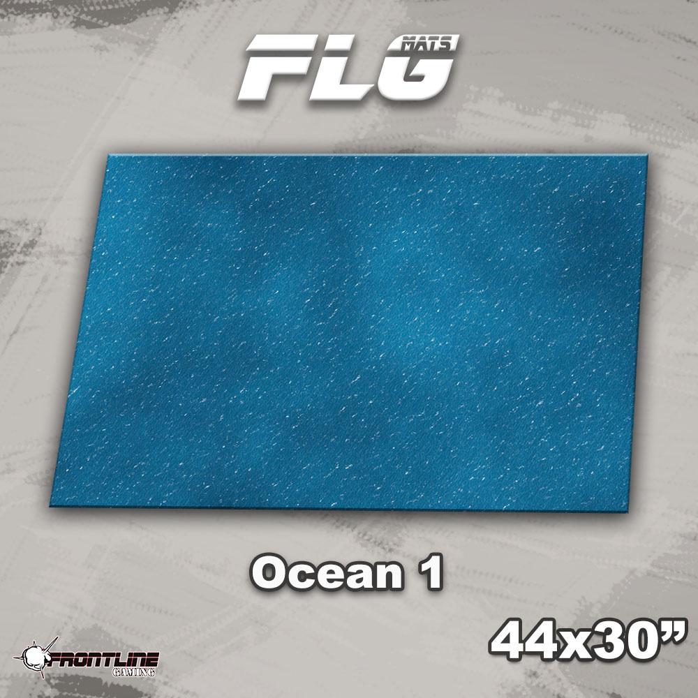 "Frontline-Gaming FLG Mats: Ocean 1 44"" x 30"""