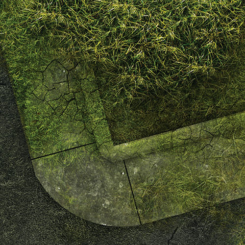 "Frontline-Gaming FLG Mats: Overgrown City 44"" x 30"""