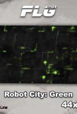 "Frontline-Gaming FLG Mats: Robot City 1: Green 44"" x 30"""