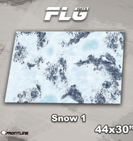 "Frontline-Gaming FLG Mats: Snow 1 44"" x 30"""