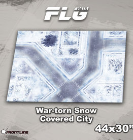 "Frontline-Gaming FLG Mats: War-torn Snow Covered City 1 44"" x 30"""