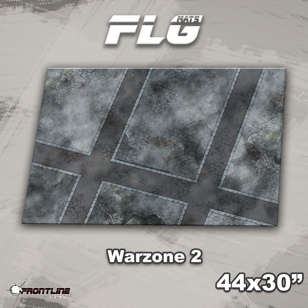 "Frontline-Gaming FLG Mats: Warzone 2 44"" x 30"""