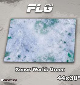 "Frontline-Gaming FLG Mats: Xenos World: Green 44"" x 30"""
