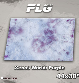"Frontline-Gaming FLG Mats: Xenos World: Purple 44"" x 30"""