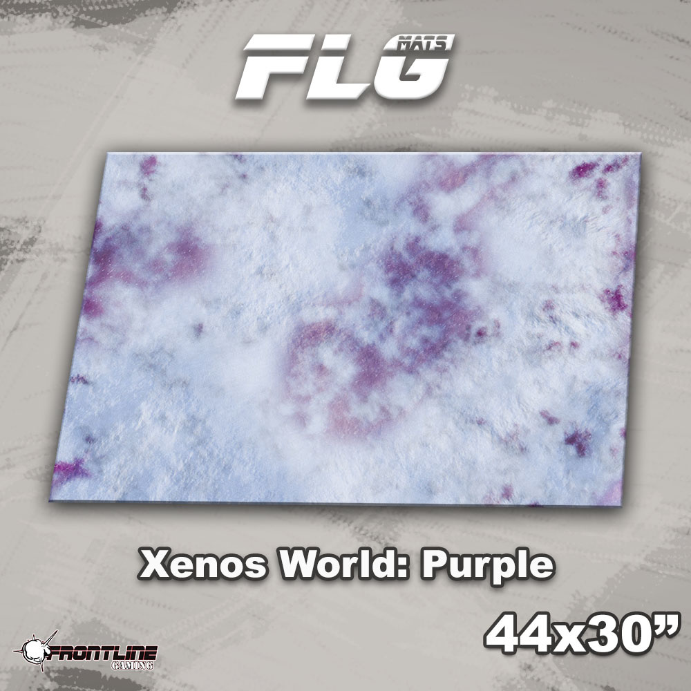 "Frontline-Gaming FLG Mats: Xenos World: Purple 44"" x 30"""