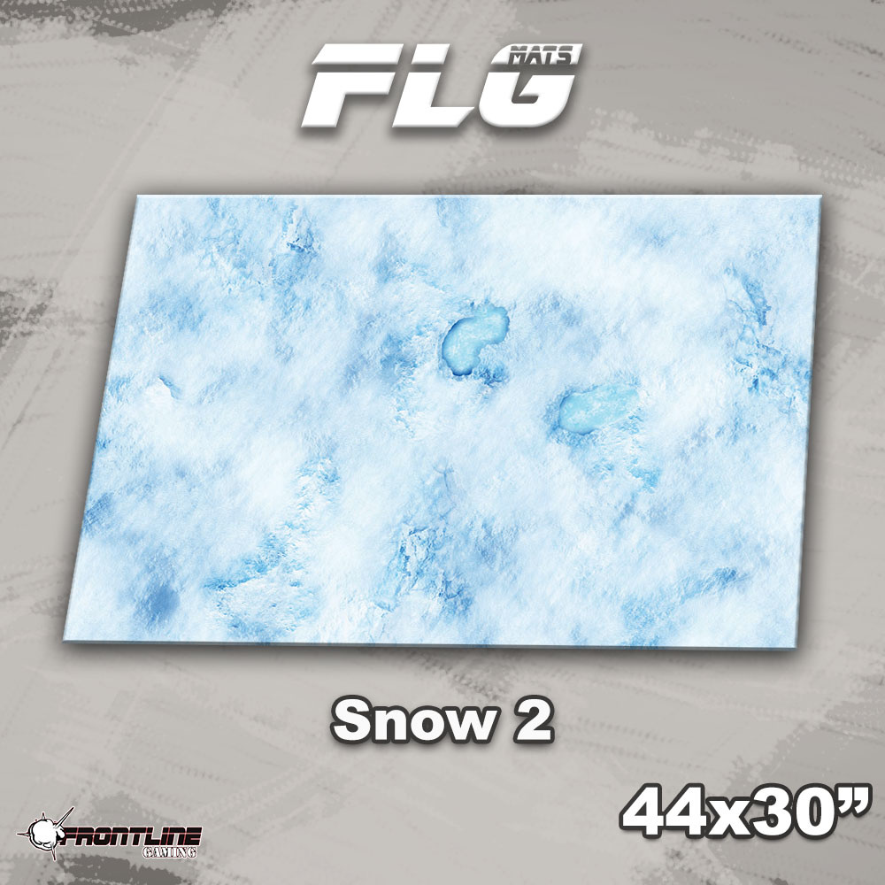 "Frontline-Gaming FLG Mats: Snow 2 44"" x 30"""