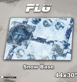 "Frontline-Gaming FLG Mats: Snow Base 44"" x 30"""