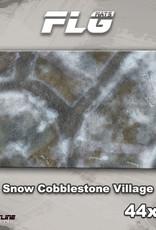 "Frontline-Gaming FLG Mats: Snow Cobblestone Village 44"" x 30"""