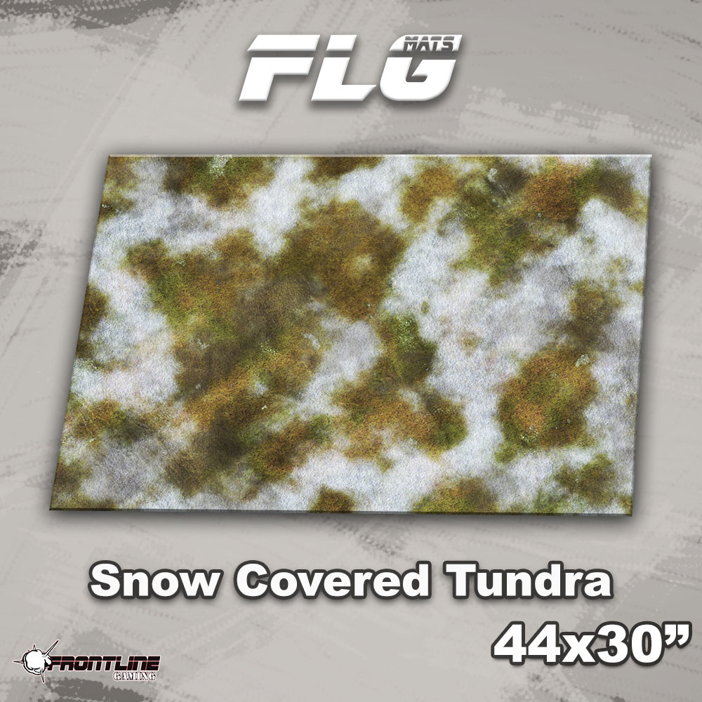 "Frontline-Gaming FLG Mats: Snow Covered Tundra 1 44"" x 30"""