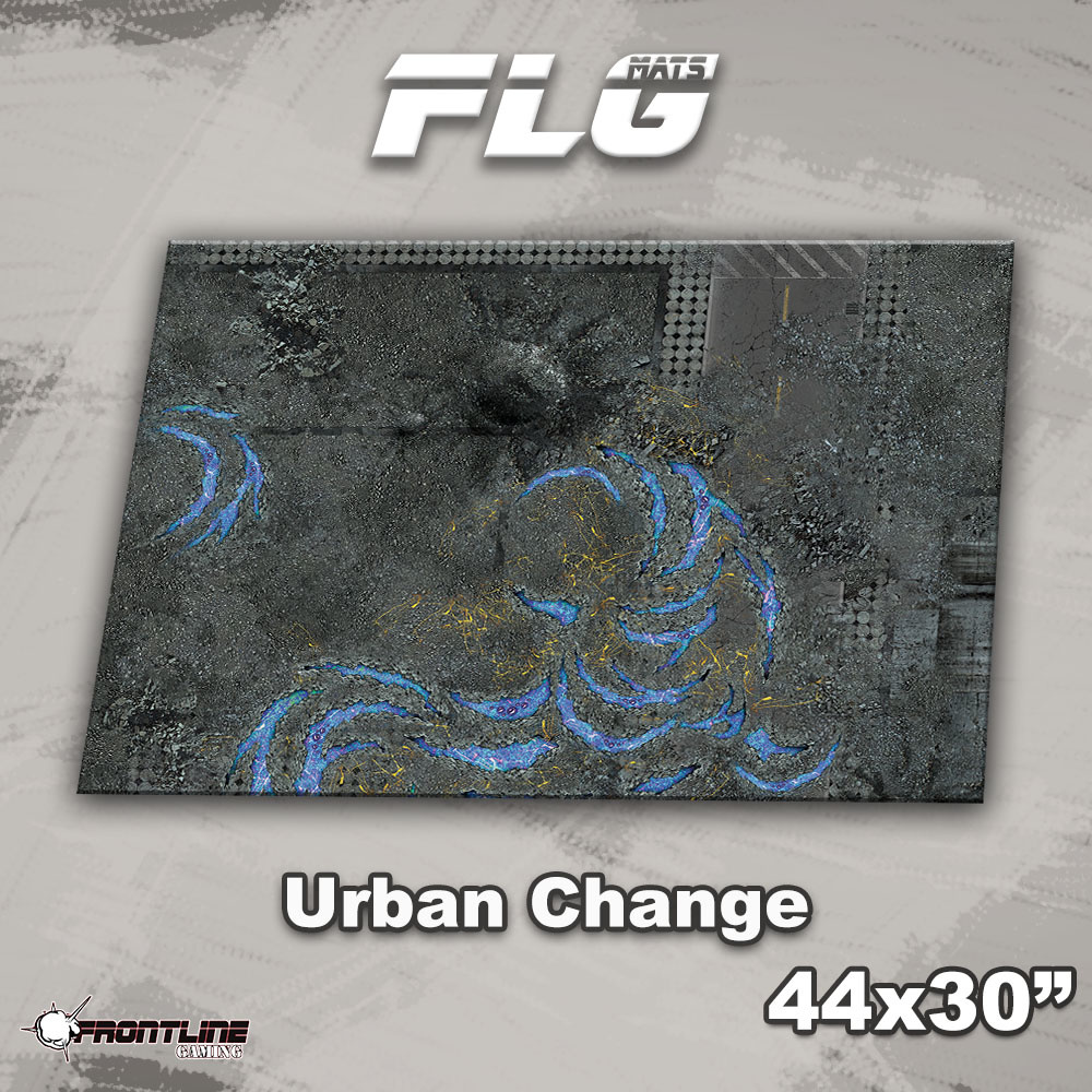 "Frontline-Gaming FLG Mats: Urban Change 44"" x 30"""