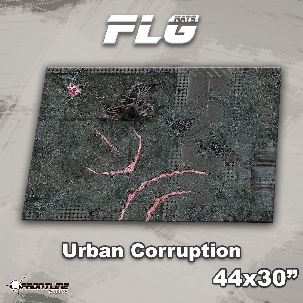 "Frontline-Gaming FLG Mats: Urban Corruption 44"" x 30"""