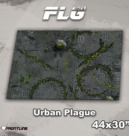 "Frontline-Gaming FLG Mats: Urban Plague 44"" x 30"""