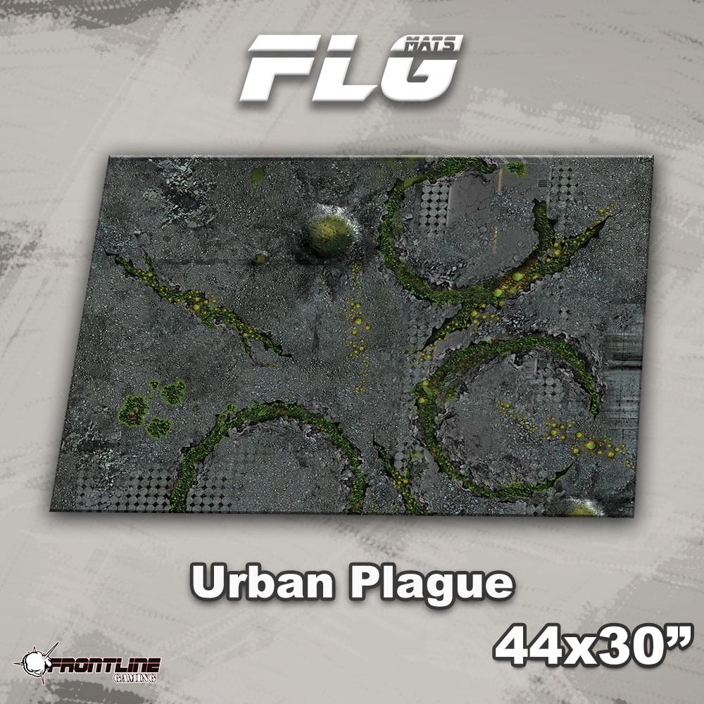 """Frontline-Gaming FLG Mats: Urban Plague 44"""" x 30"""""""