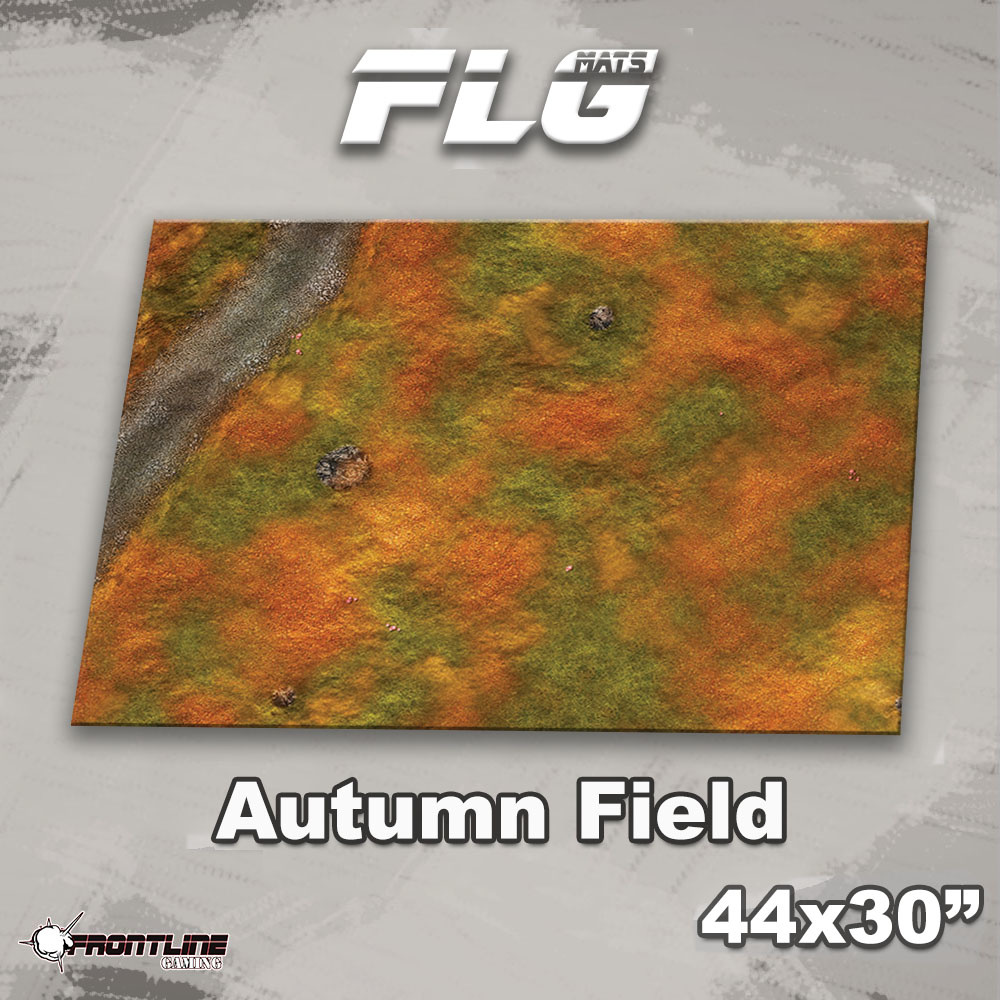 "Frontline-Gaming FLG Mats: Autumn Field 44"" x 30"""