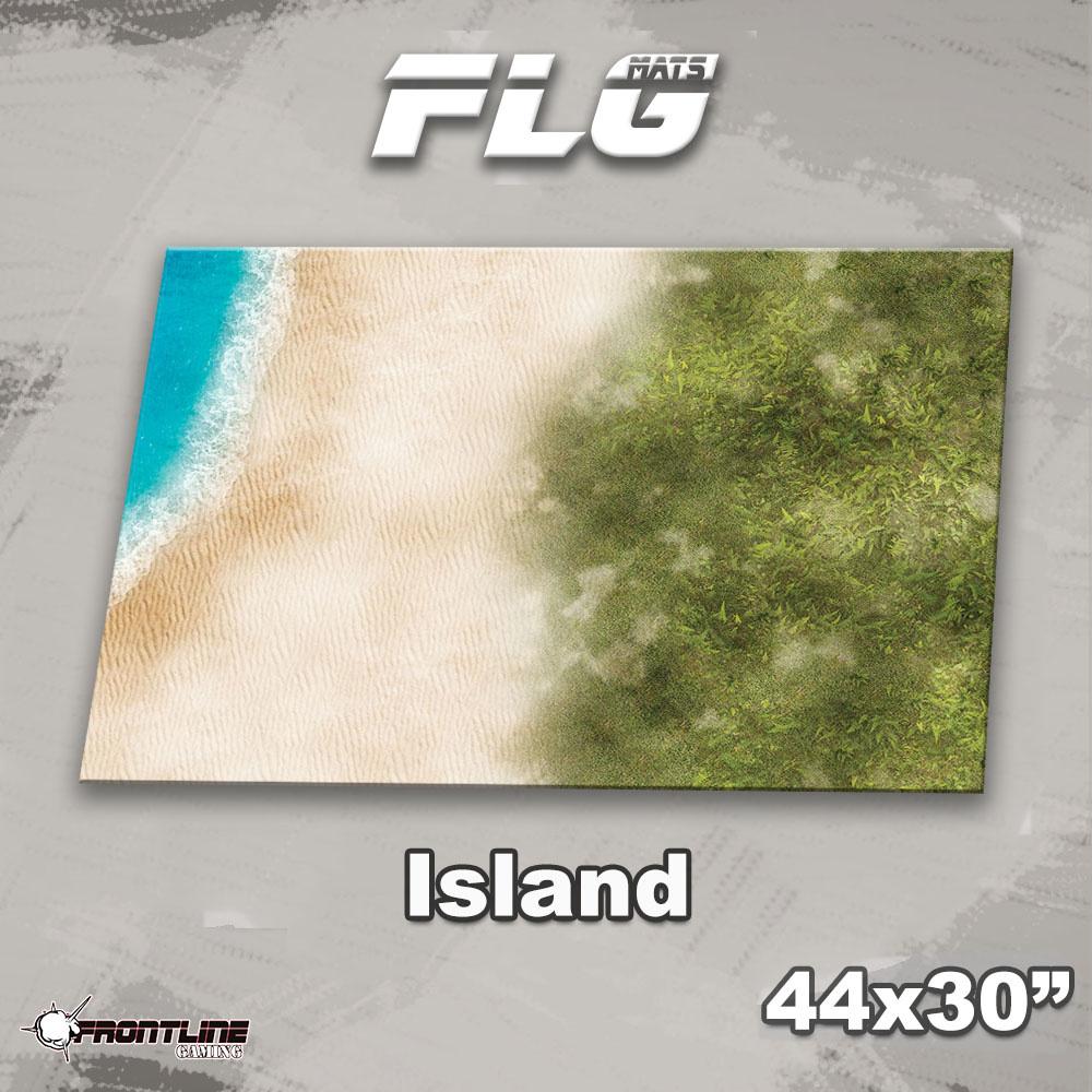 "Frontline-Gaming FLG Mats: Island 44"" x 30"""
