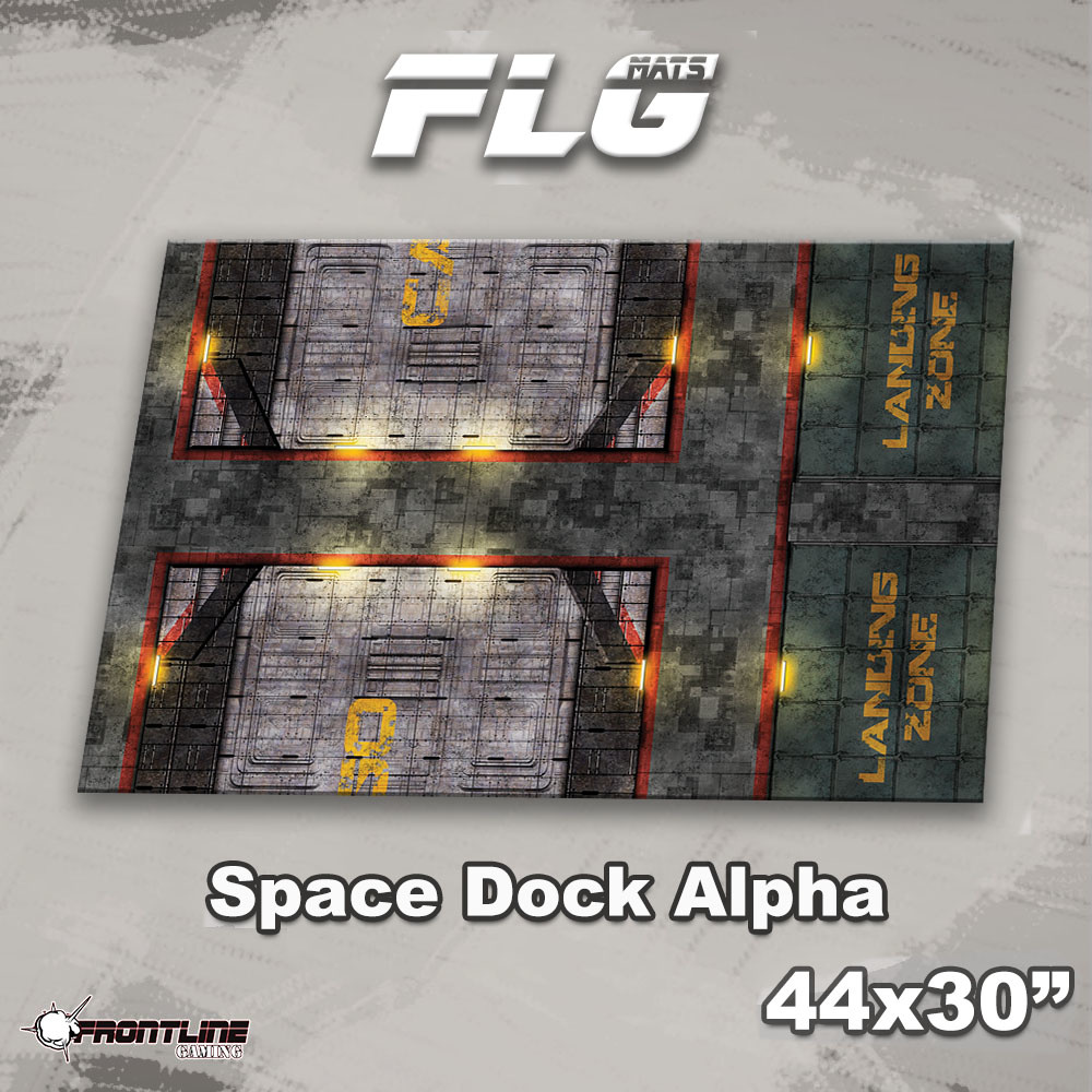 "Frontline-Gaming FLG Mats: Space Dock Alpha 44"" x 30"""