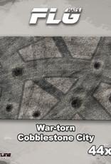 "Frontline-Gaming FLG Mats: War-Torn Cobblestone City 1 44"" x 30"""