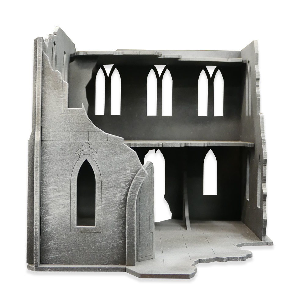 Frontline-Gaming ITC Terrain Series: Gothic Ruins Complete Set W/ Mat