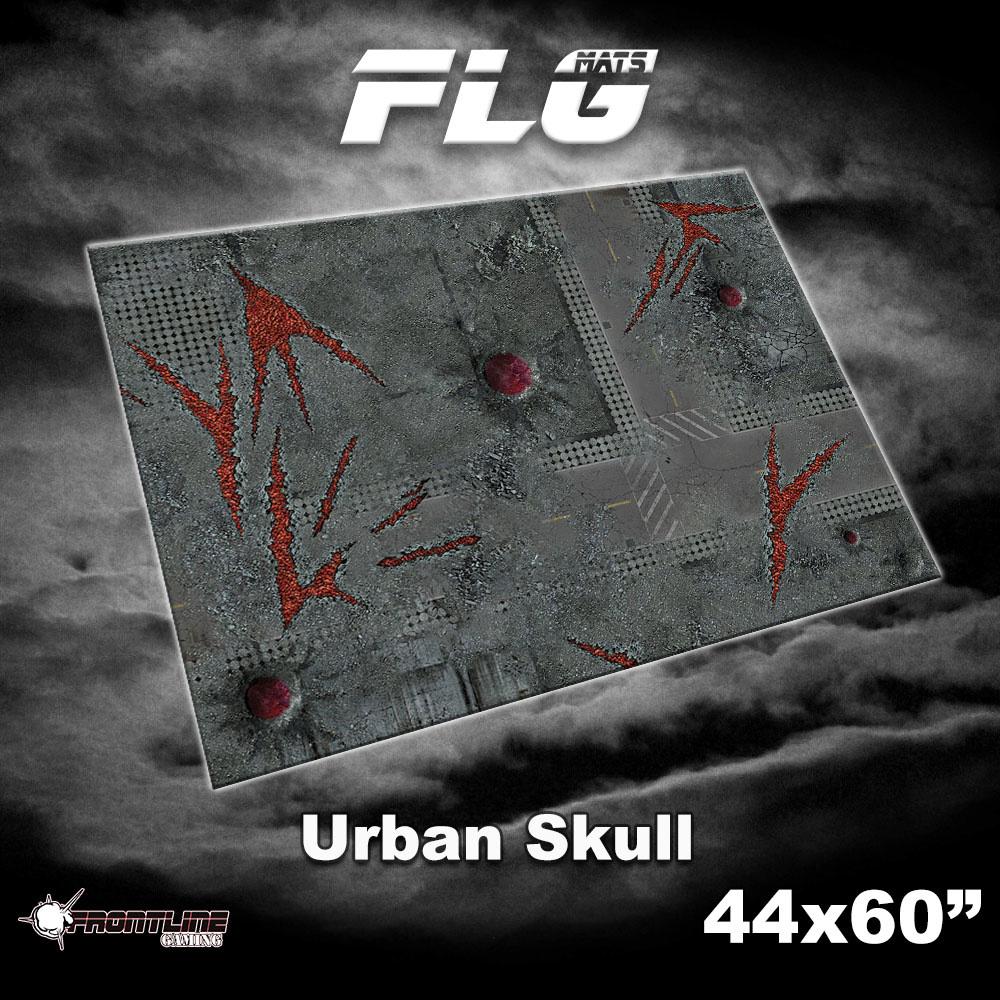 "Frontline-Gaming FLG Mats: Urban Skull 44"" x 60"""