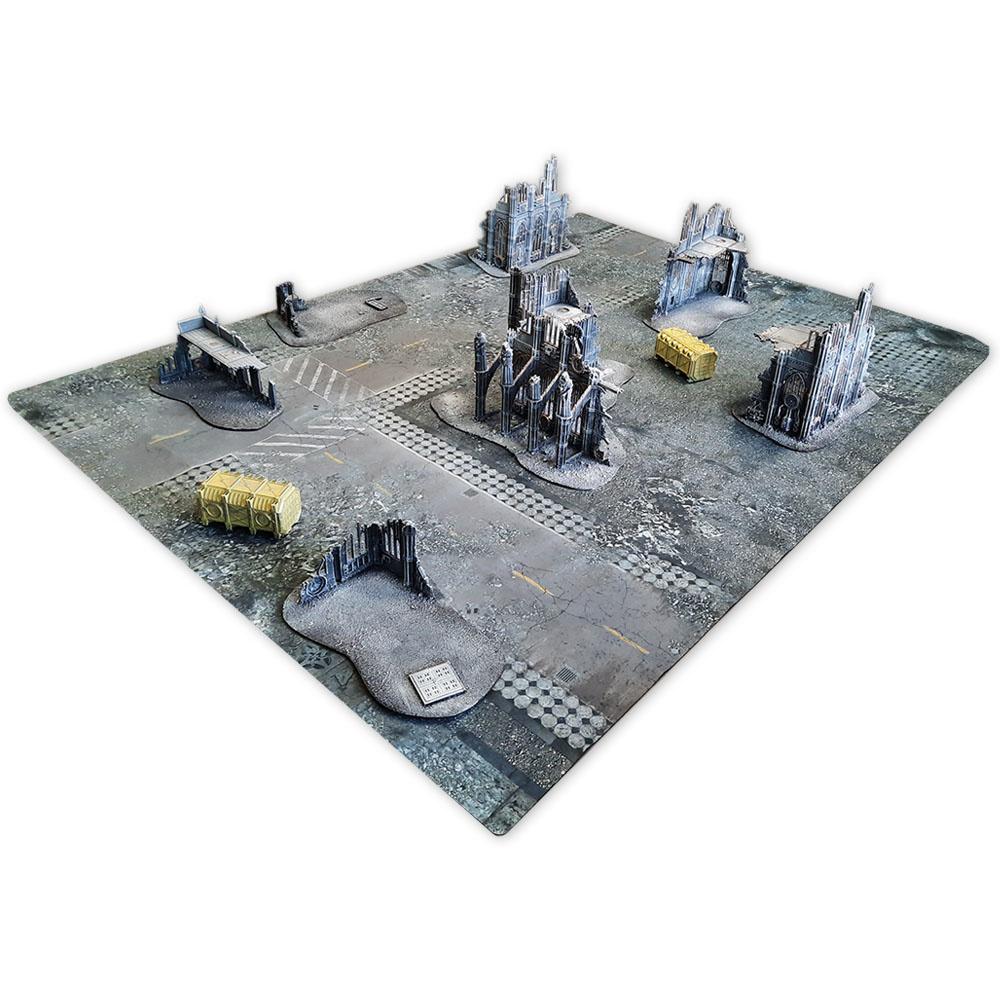 Frontline-Gaming FLG Mats: Ruined City 6x4'