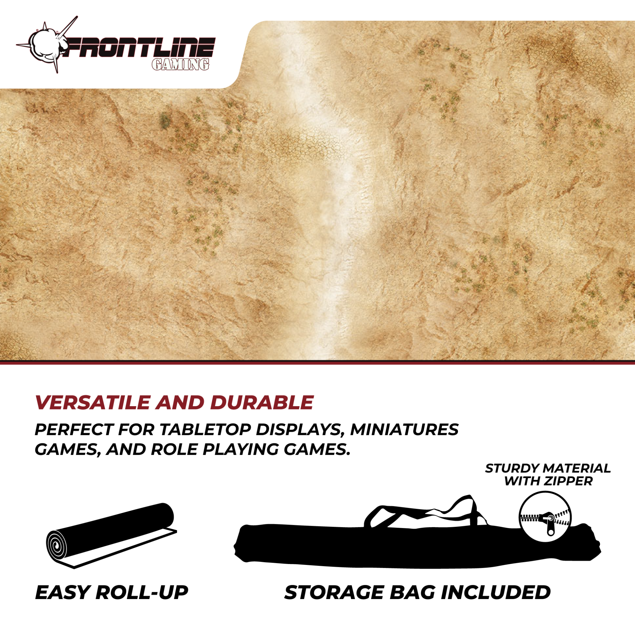 Frontline-Gaming FLG Mats: Badlands 1 6x4'
