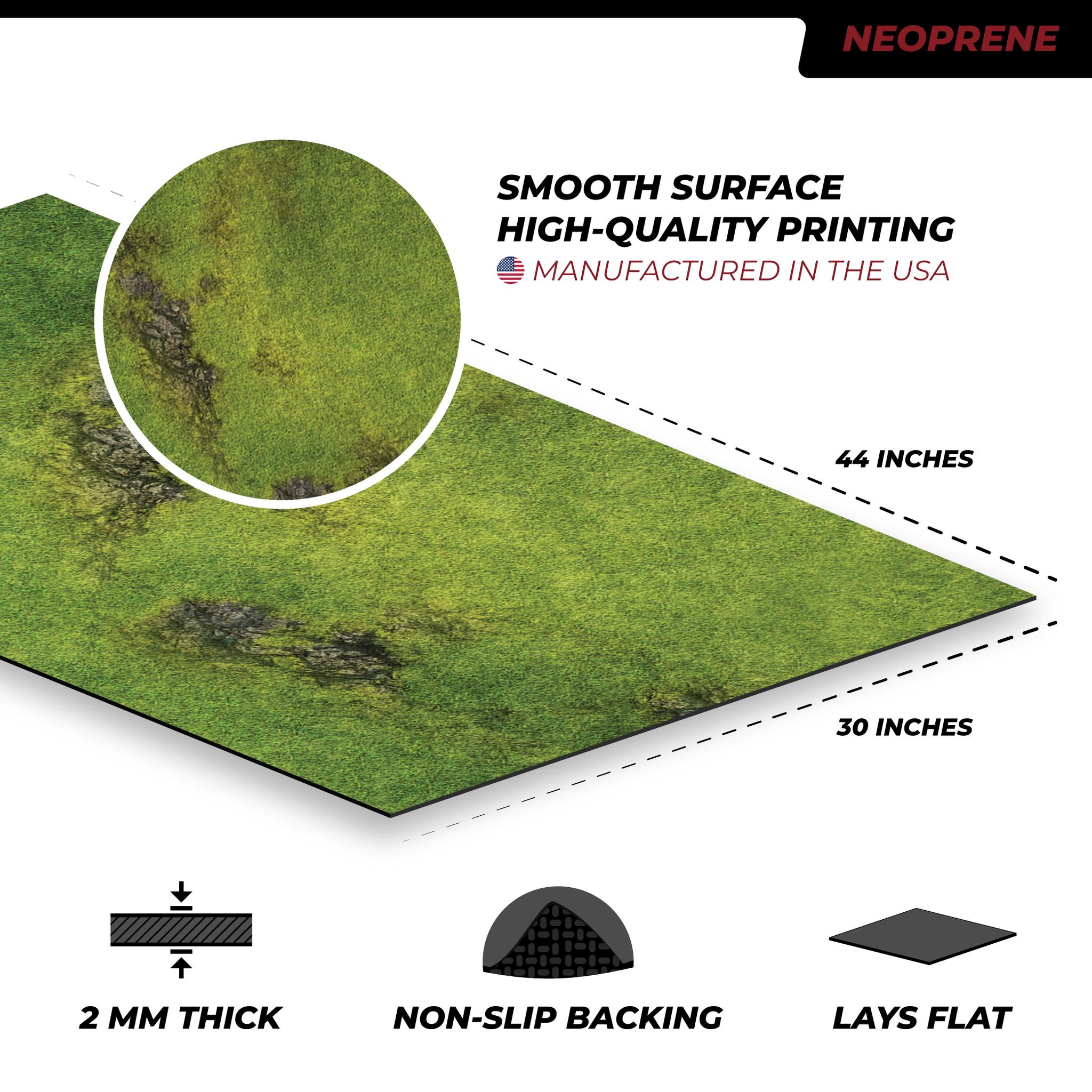 """Frontline-Gaming FLG Mats: Grasslands 1 44"""" x 30"""""""