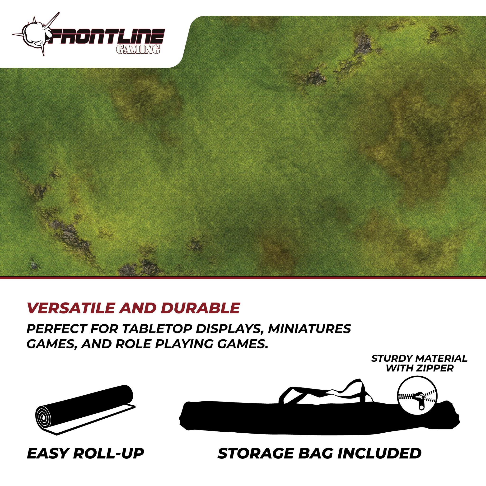 """Frontline-Gaming FLG Mats: Grasslands 1 44"""" x 60"""""""