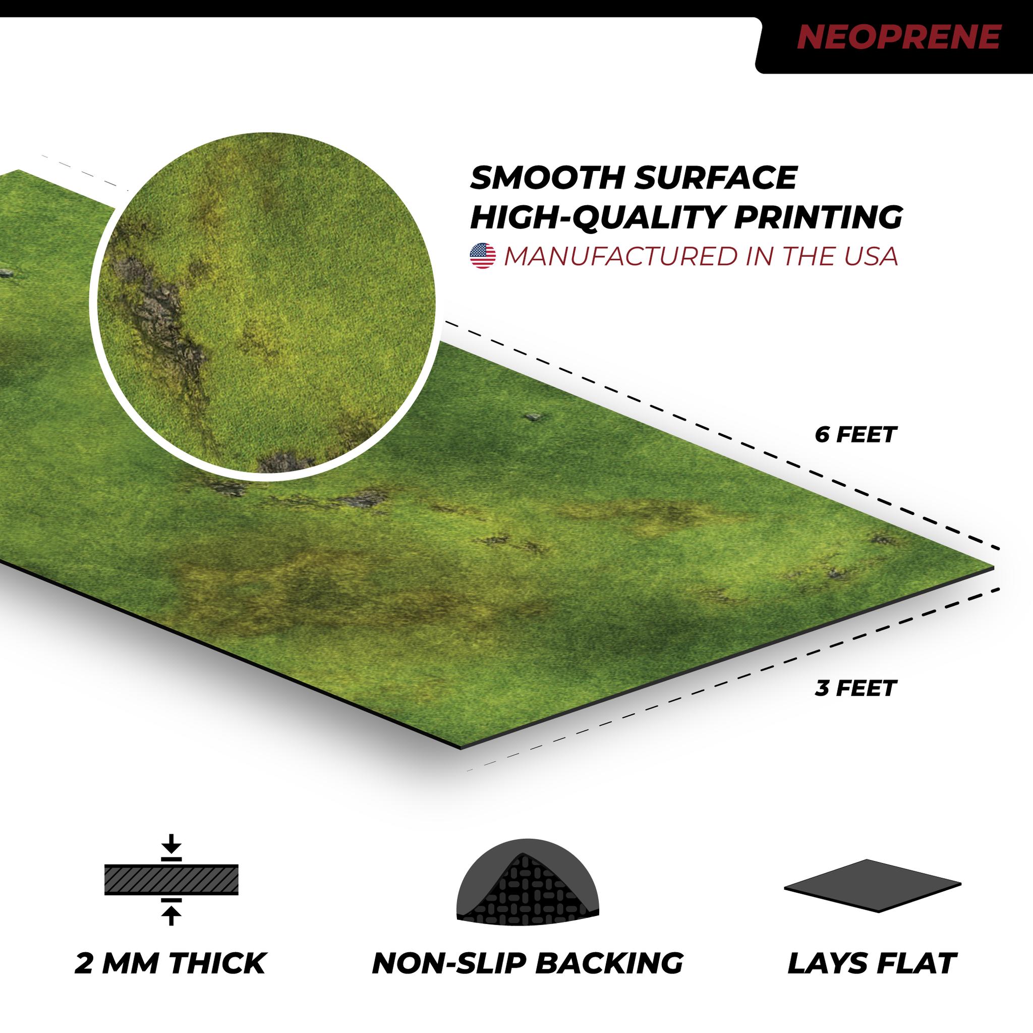 Frontline-Gaming FLG Mats: Grasslands 1 6x3'