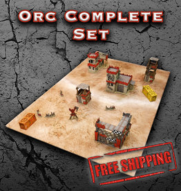Frontline-Gaming ITC Terrain Series: Orc Complete Set With Mat