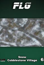 Frontline-Gaming FLG Mats: Snow Cobblestone Village 6x3'