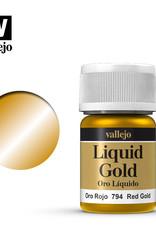 Vallejo Model Color: Alchohol Metallics- Red Gold, 35 ml.
