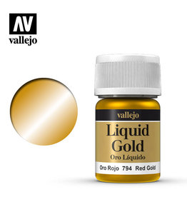 Vallejo Model Color: Alchohol Metallics- Red Gold, 35 ml.