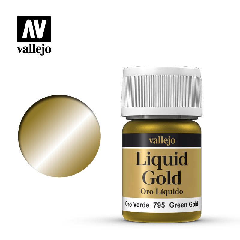 Vallejo Model Color: Alchohol Metallics- Green Gold, 35 ml.